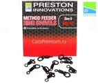 Вертлюги с кольцом Preston Innovations (Престон) - Method Feeder Ring Swivels, Размер 6