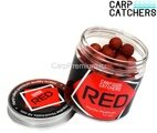 Бойлы тонущие 14 мм Острый Кальмар и Печень (Ливер) Carp Catchers - Impulse Hookbaits RED